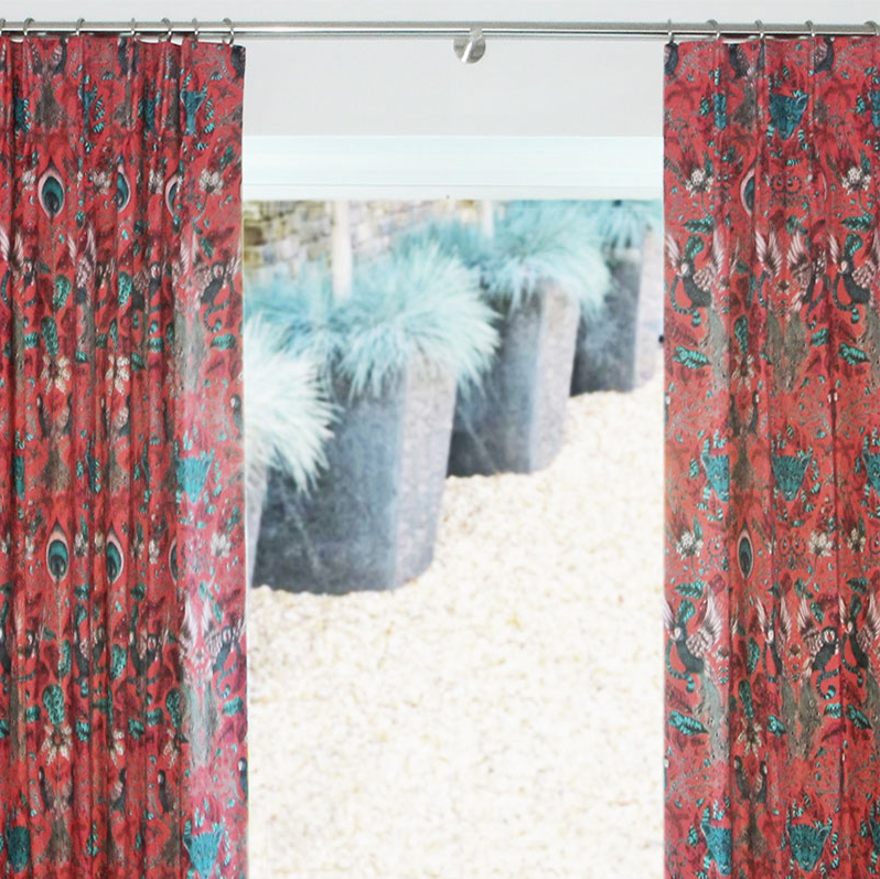 Double Pleat Curtains, Taylor and Paix Interiors