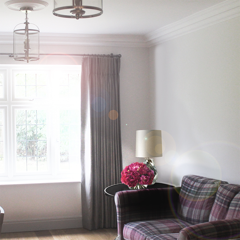 Ian Mankin Curtains, Taylor and Paix Interiors