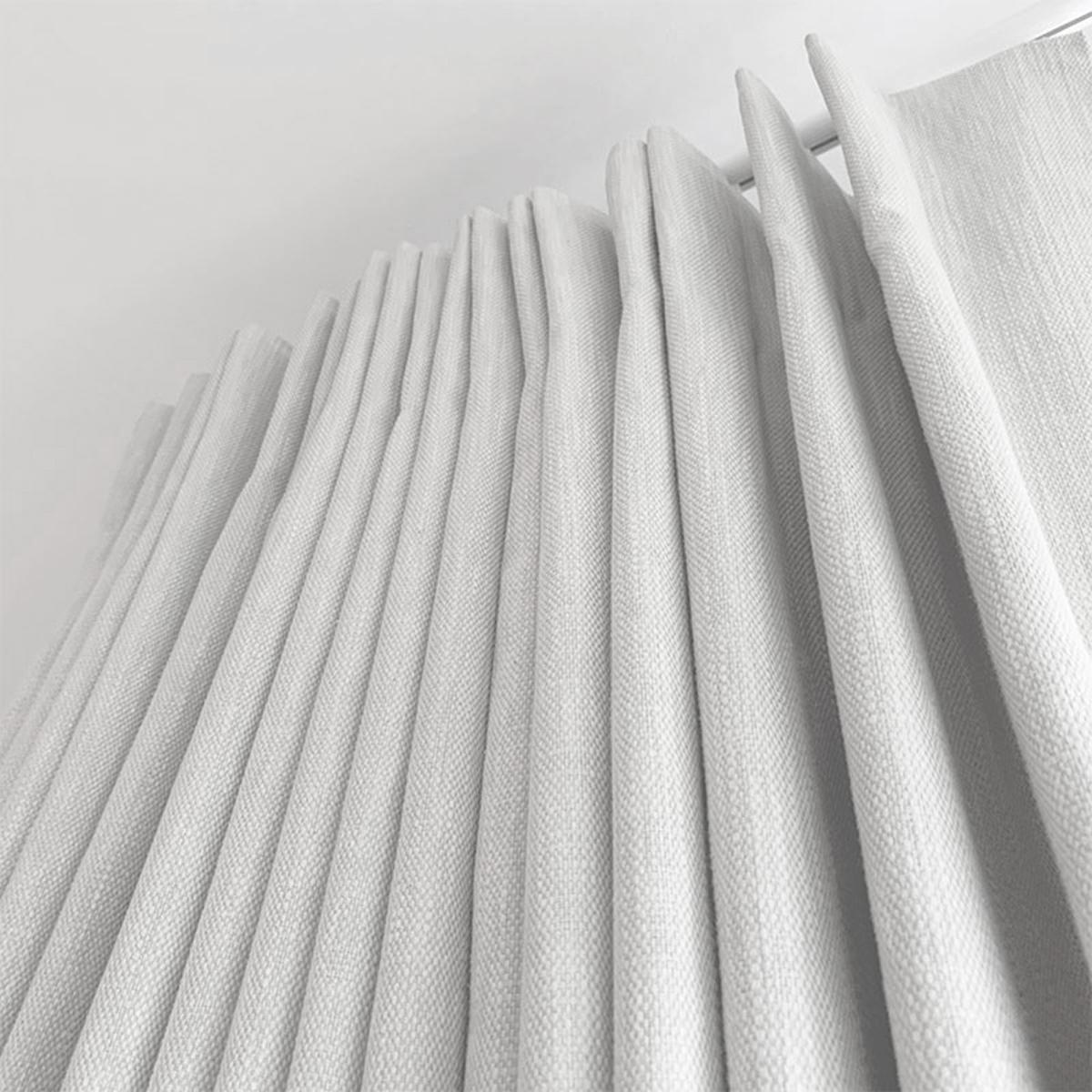 Jab Neutral Linen Double Pleat Curtains