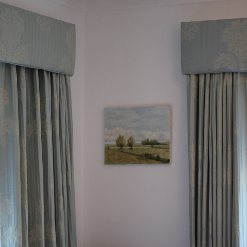 Taylor and Paix, Blue Silk Curtains