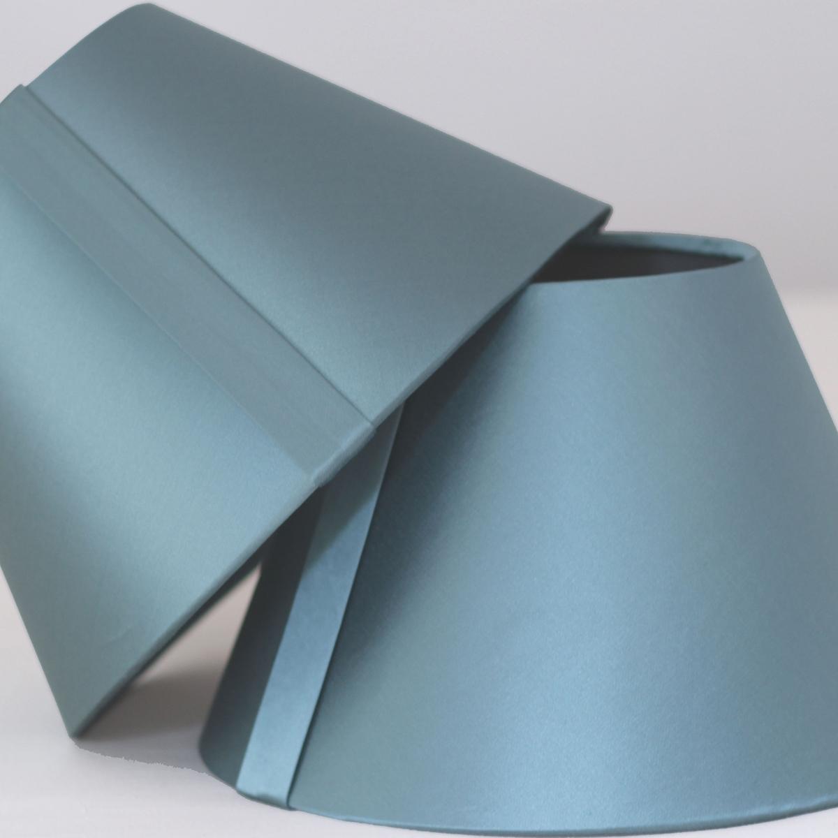 bespoke blue silk lampshades